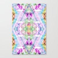 Wildflower kaleidoscope Canvas Print