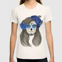Sugar Skull Womens Fitted Tee Natural SMALL