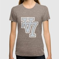 V7 Womens Fitted Tee Tri-Coffee SMALL