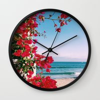 Flower Water Wall Clock