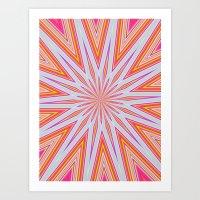 orange splat Art Print