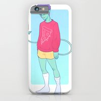 iPhone & iPod Case featuring Pizza Demon by heymonster