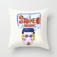 STOKED!!! Throw Pillow