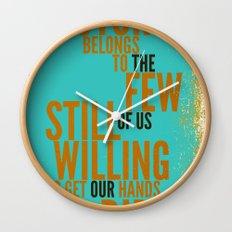 The Future Belongs to You Wall Clock