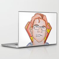 superman Laptop & iPad Skins featuring Superman by ErikMcManusInc.