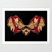 Iron Swallows Art Print