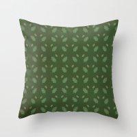 leaf pattern Throw Pillow