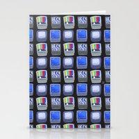 TV Pattern Stationery Cards