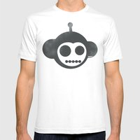 Chimpobot Mens Fitted Tee White SMALL