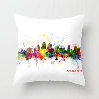 Kansas City Skyline Throw Pillow