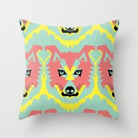 The Pack Of Modular Wolv… Throw Pillow