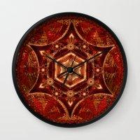 Meditation in Copper Wall Clock