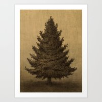 Lonely Pine  Art Print