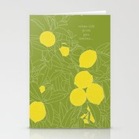 When Life Gives You Lemo… Stationery Cards