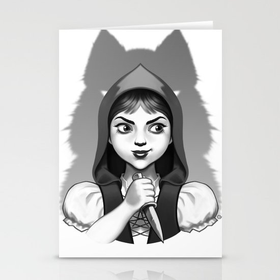 Little Red Riding Hood's Surprise Stationery Card