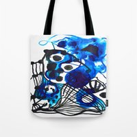 Paint 5 abstract minimal modern painting trendy bold painterly dorm college urban apartment decor Tote Bag