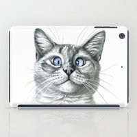 Cross Eyed cat G122 iPad Case