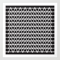 B&W pattern Art Print