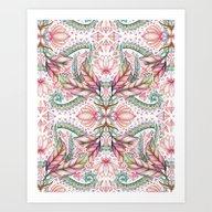 Lily, Leaf & Triangle Pa… Art Print