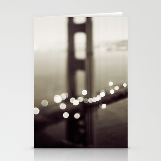 Meet Me In San Francisco (Black and White Edition)  Stationery Card