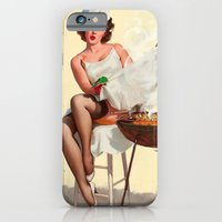 iPhone & iPod Case featuring Barbecue Pin-Up Girl by TilenHrovatic