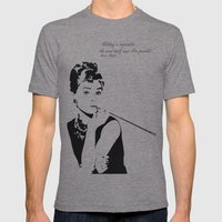 AUDREY HEPBURN Mens Fitted Tee Tri-Grey SMALL