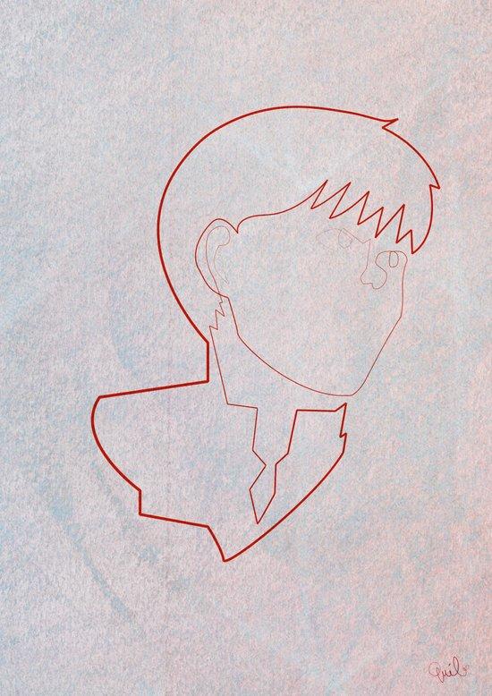 One line Akira: Kaneda Canvas Print