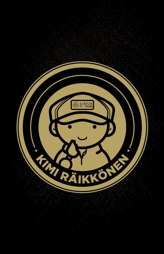 Chibi Kimi Raikkonen - Lotus F1 Team Canvas Print