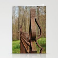 Rusted Wrought Iron.... Stationery Cards