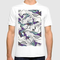 JRDN V GRAPE SMALL Mens Fitted Tee White