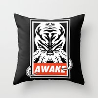 Awake. Throw Pillow