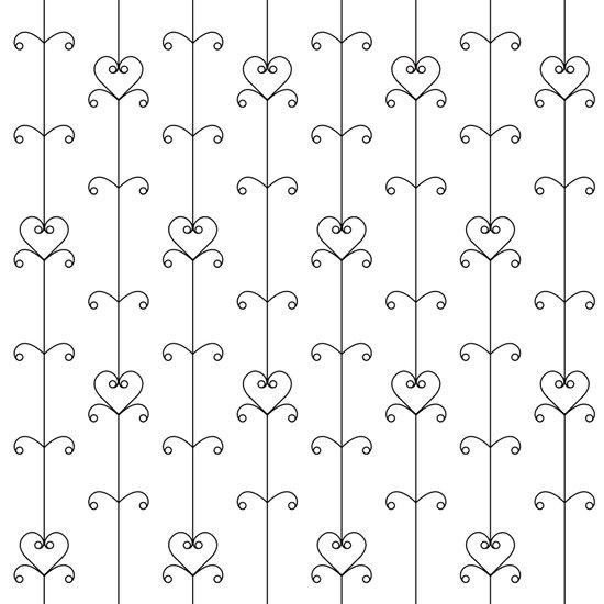 Black & White Hearts Art Print