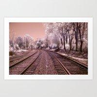 Train Track In Culpeper Art Print