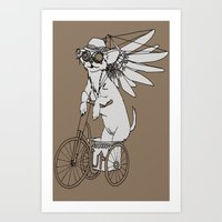Steam Punk Chihuahua Art Print