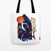 Window Bird Tote Bag
