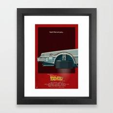 DeLorean Time Machine, B… Framed Art Print