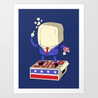 Art Print featuring Politics Are Dirty by Jonah Block