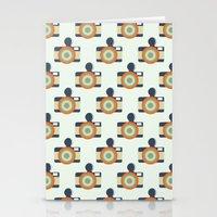 Fisheye Pattern Stationery Cards