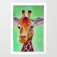Colorful Giraffe Art Print