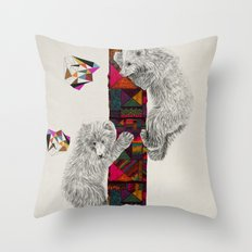 The Innocent Wilderness by Peter Striffolino and Kris Tate Throw Pillow