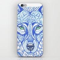 ice wolf iPhone & iPod Skin