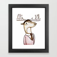 Professor Caribou Framed Art Print