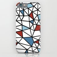 iPhone & iPod Case featuring Segment Red and Blue by Project M