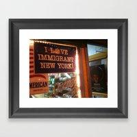I Love Immigrant New Yor… Framed Art Print