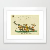 Let's Go To The Moon Framed Art Print