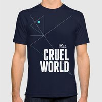 It's a cruel world Mens Fitted Tee Navy SMALL