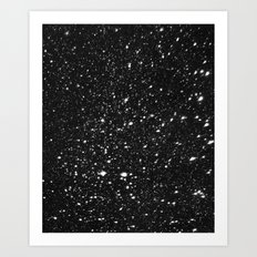 Snowflakes In the Night Art Print