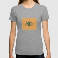Happy Fish #4 Womens Fitted Tee Tri-Grey SMALL
