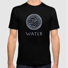 Avatar Last Airbender - Water Mens Fitted Tee Black SMALL