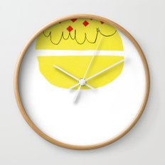 donut vs eclaire Wall Clock